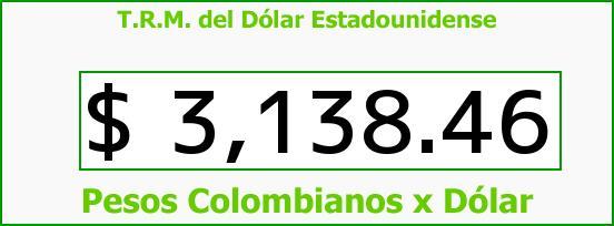 T.R.M. del Dólar para hoy Miércoles 9 de Septiembre de 2015