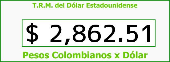 T.R.M. del Dólar para hoy Sábado 1 de Agosto de 2015