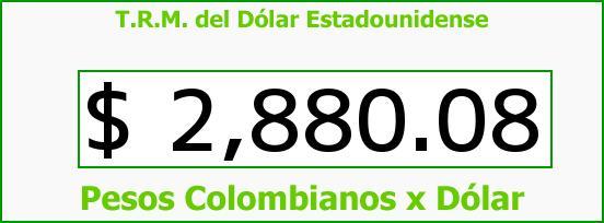 T.R.M. del Dólar para hoy Sábado 1 de Octubre de 2016