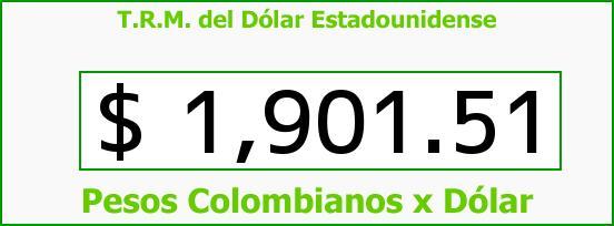 T.R.M. del Dólar para hoy Sábado 10 de Mayo de 2014