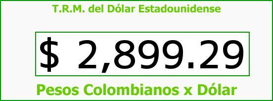 T.R.M. del Dólar para hoy Sábado 10 de Septiembre de 2016