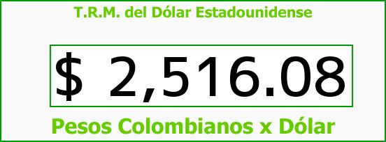 T.R.M. del Dólar para hoy Sábado 11 de Abril de 2015