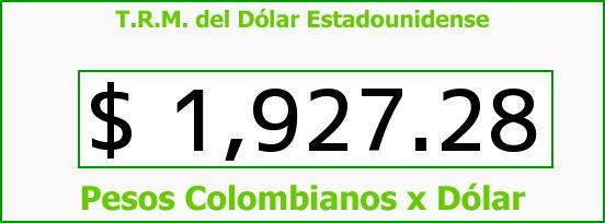 T.R.M. del Dólar para hoy Sábado 12 de Abril de 2014