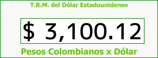 T.R.M. del Dólar para hoy Sábado 12 de Noviembre de 2016