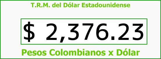 T.R.M. del Dólar para hoy Sábado 14 de Febrero de 2015