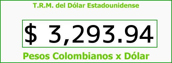 T.R.M. del Dólar para hoy Sábado 16 de Enero de 2016