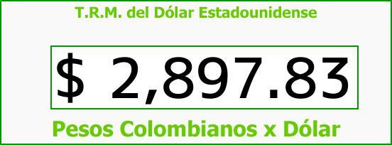 T.R.M. del Dólar para hoy Sábado 16 de Septiembre de 2017