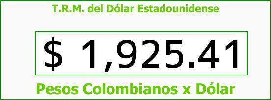 T.R.M. del Dólar para hoy Sábado 17 de Mayo de 2014