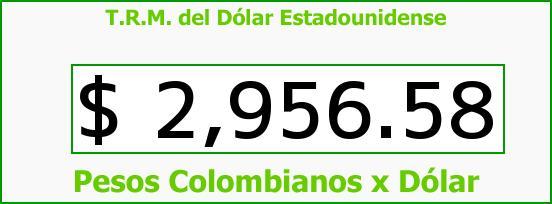 T.R.M. del Dólar para hoy Sábado 17 de Septiembre de 2016