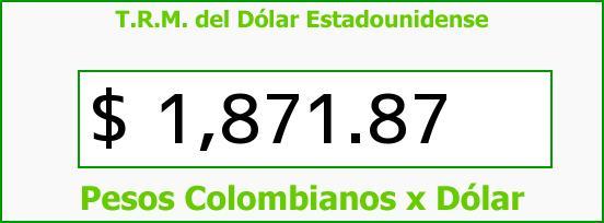 T.R.M. del Dólar para hoy Sábado 19 de Julio de 2014