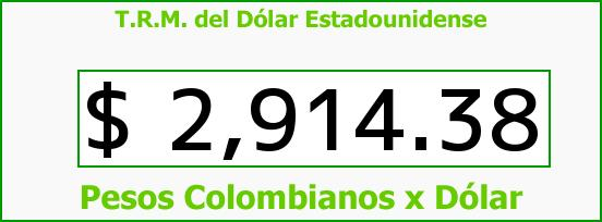 T.R.M. del Dólar para hoy Sábado 2 de Julio de 2016