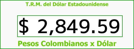 T.R.M. del Dólar para hoy Sábado 24 de Febrero de 2018