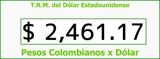 T.R.M. del Dólar para hoy Sábado 25 de Abril de 2015