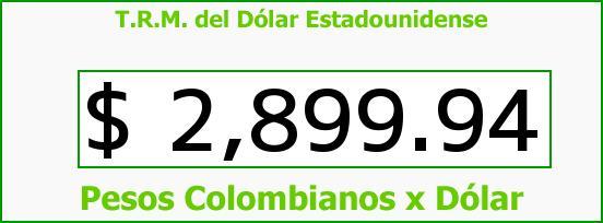 T.R.M. del Dólar para hoy Sábado 25 de Marzo de 2017