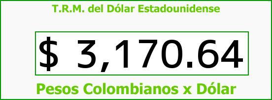 T.R.M. del Dólar para hoy Sábado 26 de Noviembre de 2016
