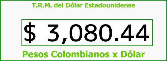 T.R.M. del Dólar para hoy Sábado 26 de Septiembre de 2015