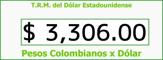 T.R.M. del Dólar para hoy Sábado 27 de Febrero de 2016