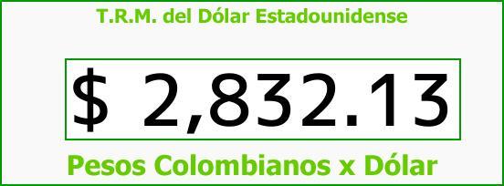 T.R.M. del Dólar para hoy Sábado 3 de Febrero de 2018