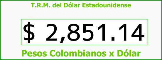 T.R.M. del Dólar para hoy Sábado 30 de Abril de 2016