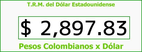 T.R.M. del Dólar para hoy Sábado 31 de Octubre de 2015