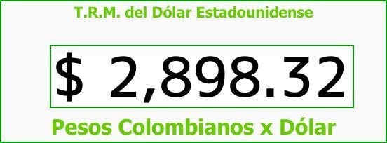 T.R.M. del Dólar para hoy Sábado 6 de Enero de 2018