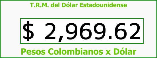 T.R.M. del Dólar para hoy Sábado 7 de Mayo de 2016