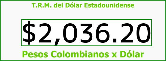 T.R.M. del Dólar para hoy Sábado 8 de Marzo de 2014