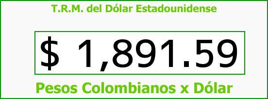 T.R.M. del Dólar para hoy Sábado 9 de Agosto de 2014