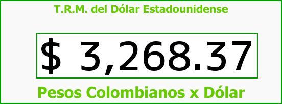 T.R.M. del Dólar para hoy Sábado 9 de Enero de 2016