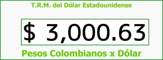 T.R.M. del Dólar para hoy Viernes 1 de Abril de 2016