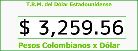 T.R.M. del Dólar para hoy Viernes 11 de Diciembre de 2015
