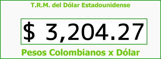 T.R.M. del Dólar para hoy Viernes 11 de Marzo de 2016