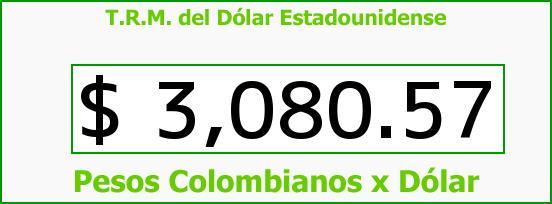 T.R.M. del Dólar para hoy Viernes 11 de Septiembre de 2015