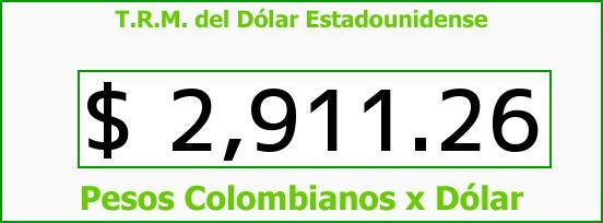 T.R.M. del Dólar para hoy Viernes 12 de Agosto de 2016