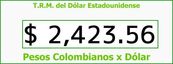T.R.M. del Dólar para hoy Viernes 12 de Diciembre de 2014