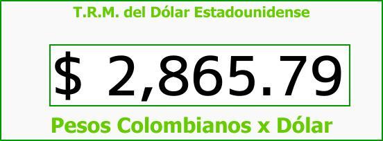 T.R.M. del Dólar para hoy Viernes 12 de Enero de 2018