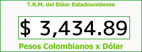 T.R.M. del Dólar para hoy Viernes 12 de Febrero de 2016