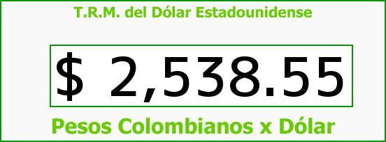 T.R.M. del Dólar para hoy Viernes 12 de Junio de 2015