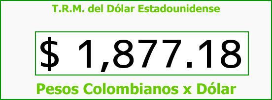 T.R.M. del Dólar para hoy Viernes 13 de Junio de 2014