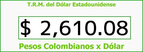 T.R.M. del Dólar para hoy Viernes 13 de Marzo de 2015
