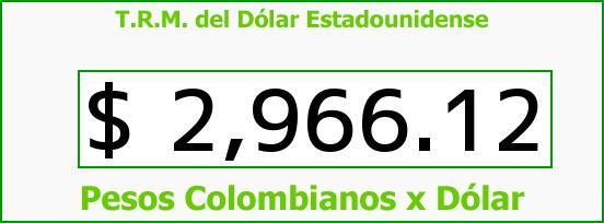 T.R.M. del Dólar para hoy Viernes 14 de Agosto de 2015