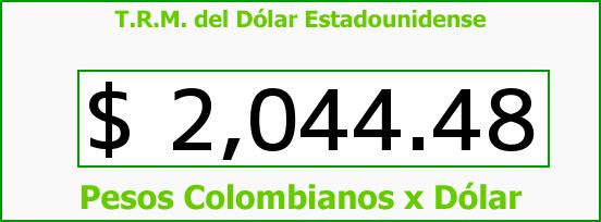 T.R.M. del Dólar para hoy Viernes 14 de Marzo de 2014