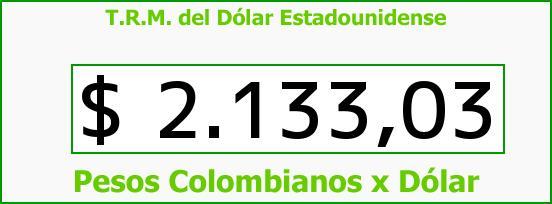 T.R.M. del Dólar para hoy Viernes 14 de Noviembre de 2014