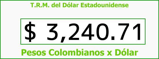 T.R.M. del Dólar para hoy Viernes 15 de Enero de 2016