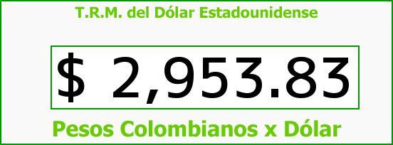 T.R.M. del Dólar para hoy Viernes 16 de Junio de 2017