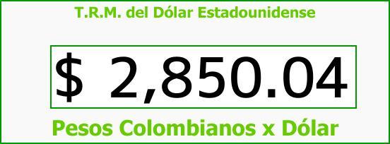 T.R.M. del Dólar para hoy Viernes 16 de Marzo de 2018