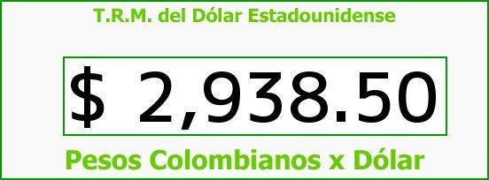 T.R.M. del Dólar para hoy Viernes 16 de Septiembre de 2016