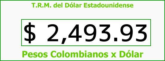 T.R.M. del Dólar para hoy Viernes 17 de Abril de 2015