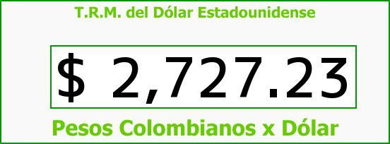 T.R.M. del Dólar para hoy Viernes 17 de Julio de 2015