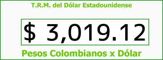 T.R.M. del Dólar para hoy Viernes 17 de Junio de 2016